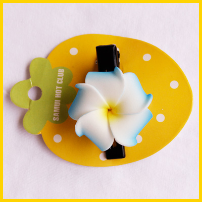 Заколка - тропический цветок