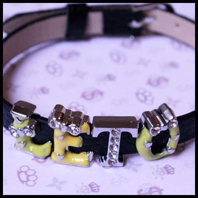 стильный браслет с надписью - ЛЕТО из букв со стразами