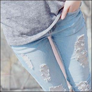 как выглядеть стройнее в джинсах