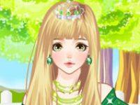 Принцесса в зеленом платье