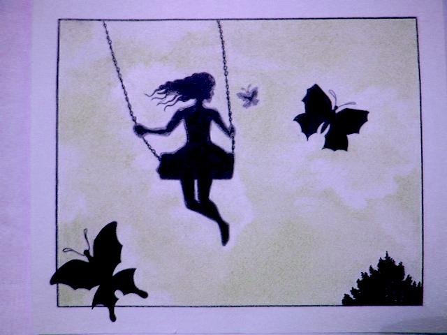 """«Картинка к стиху и рассказу """"Девушка на качелях.""""»"""