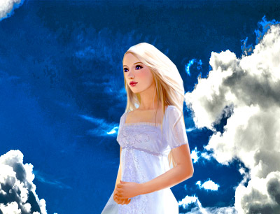 """«Картинка к тексту """"Девушка на небе.""""»"""