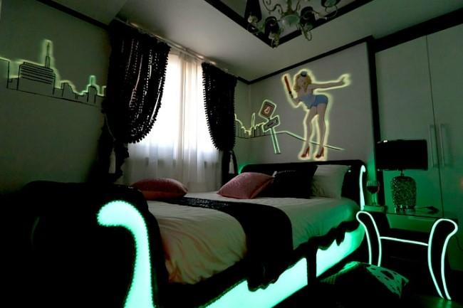 люминисцентной краска в интерьере для девочки
