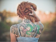 colorful-cute-girl-red-hair-tattoo-Favim.com-141019