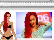 как сделать игру одевалку - этапы работы векторная иллюстрация