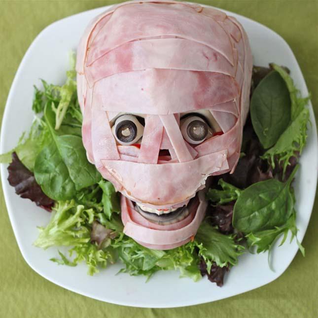 вкусняшки на Хеллоуин - мясная голова