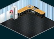 Шаг 2 и 3: Добавить предметы нужные относительно кухни, поставить холодильник.