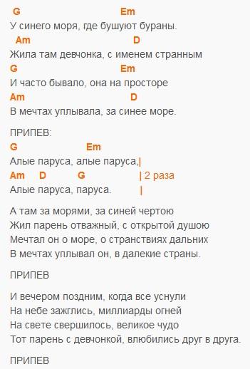 Alyie-parusa-u-sinego-morya-tekst-i-akkordyi