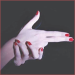 Рисунок профиля (Faceless - Lady in red)