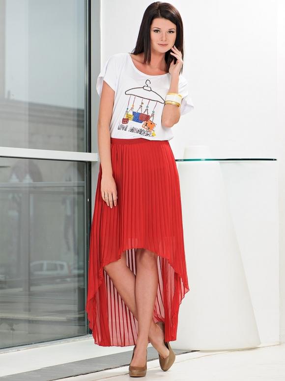 Модные красные юбки 2